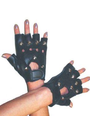 80s Fancy Dress Punk or Biker Gloves